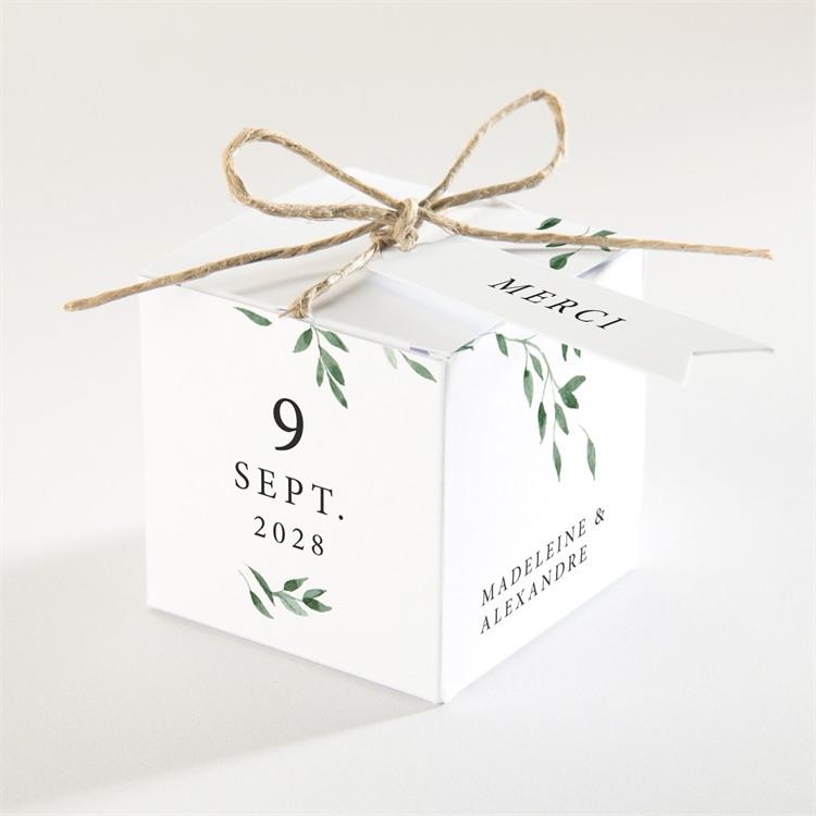 Boîte de dragées mariage A l'ombre de l'olivier réf.N340207