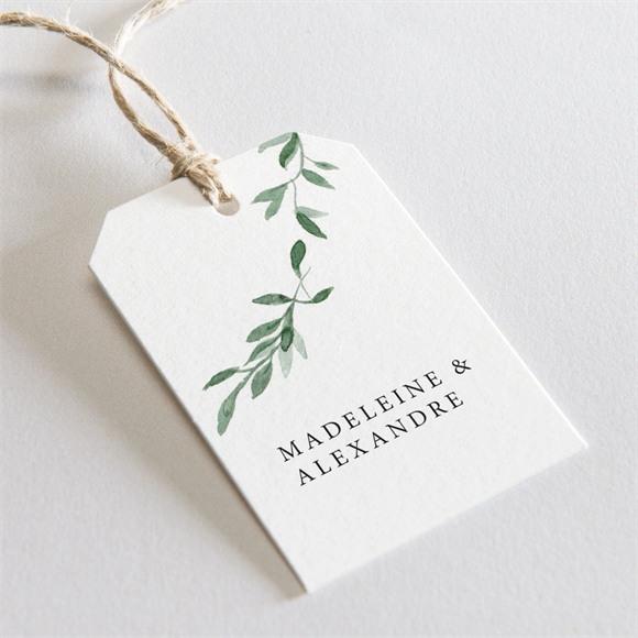 Etiquette mariage A l'ombre de l'olivier réf.N29106