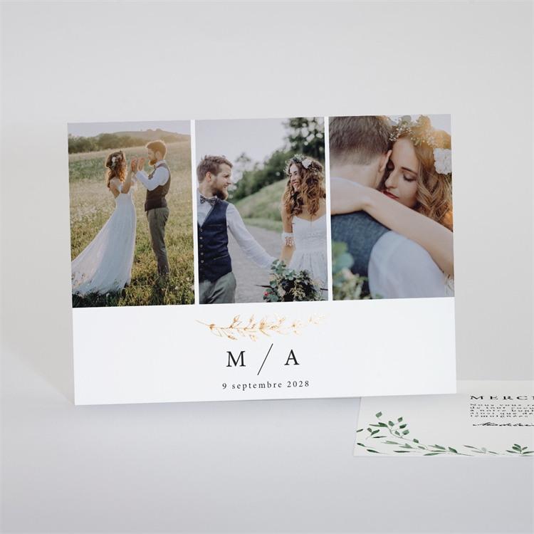 Remerciement mariage A l'ombre de l'olivier réf.N18116