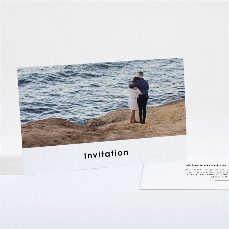 Carton d'invitation mariage Tendresse réf.N16142