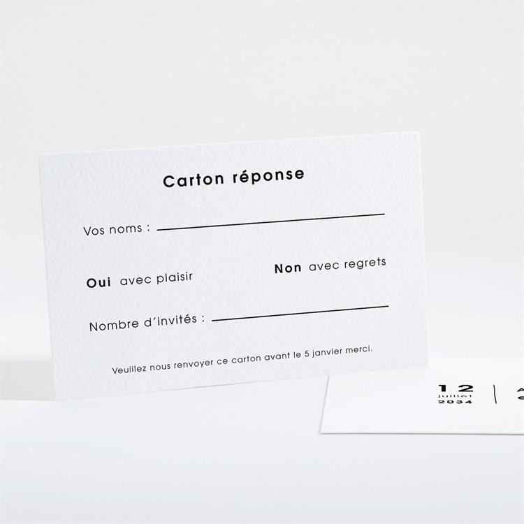 Carton réponse mariage Tendresse réf.N16143