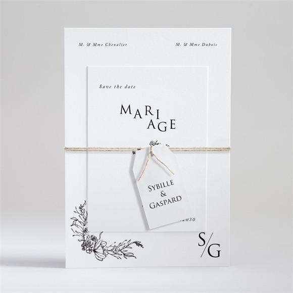 Faire-part mariage Délicate ficelle réf.N99105