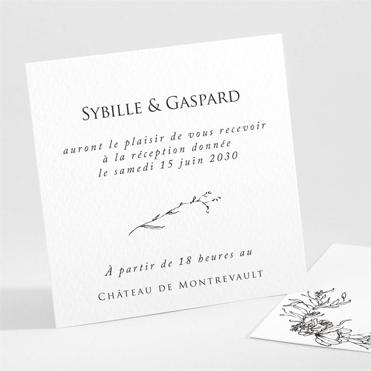 Carton d'invitation mariage Délicate ficelle réf.N301100