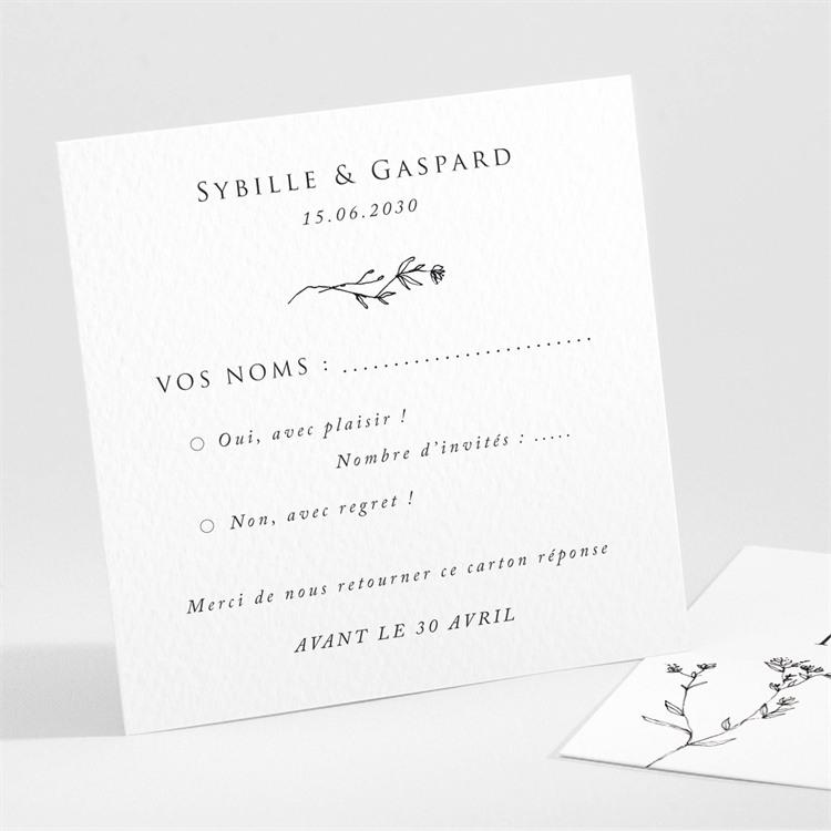 Carton réponse mariage Délicate ficelle réf.N301101