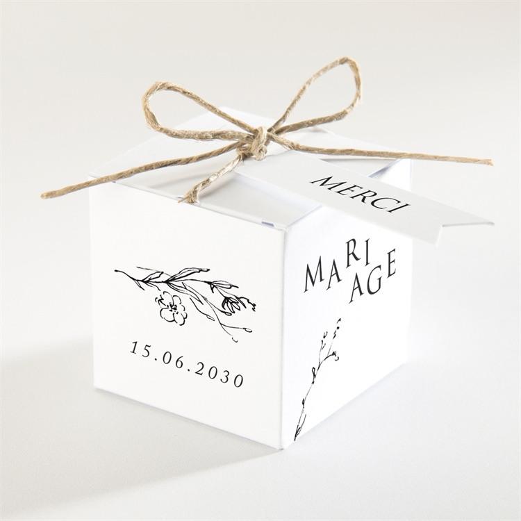 Boîte de dragées mariage Délicate ficelle réf.N340208