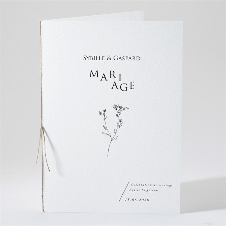 Livret de messe mariage Délicate ficelle réf.N491114