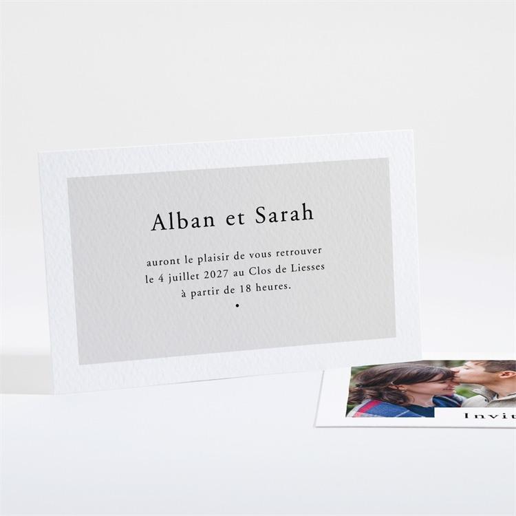 Carton d'invitation mariage Que je t'aime réf.N16146