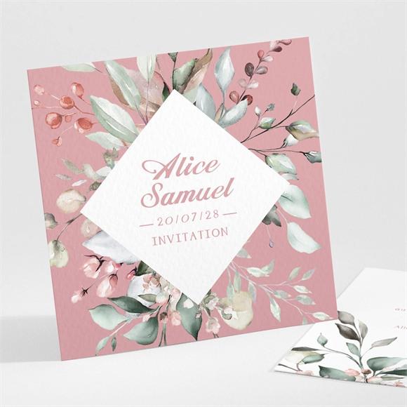 Carton d'invitation mariage Baroque réf.N301102