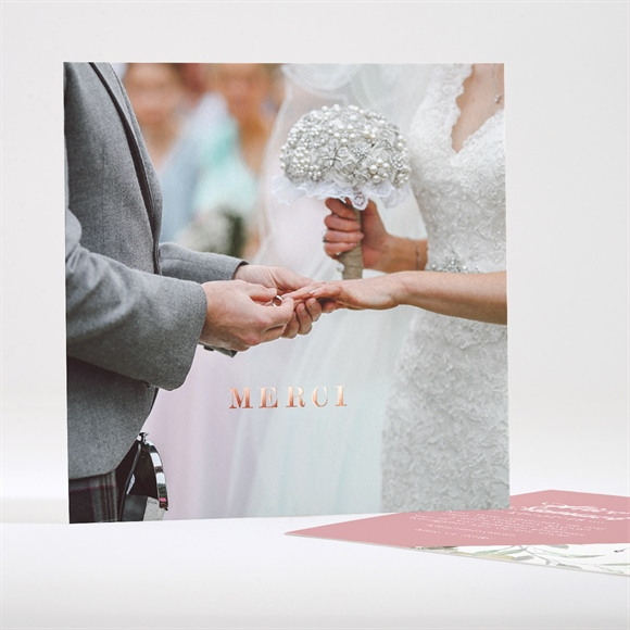 Remerciement mariage Baroque réf.N35117