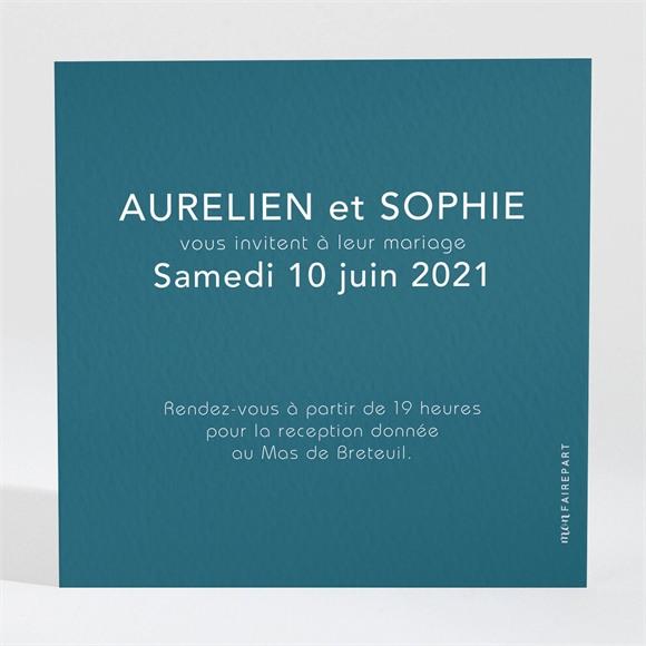 Carton d'invitation mariage Mon océan bleu réf.N3001552