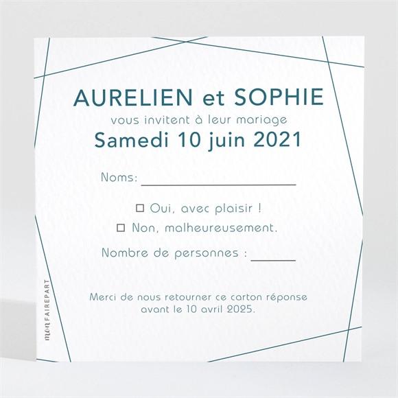 Carton réponse mariage Mon océan bleu réf.N3001553