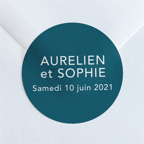 Sticker mariage Mon océan bleu réf.N36010
