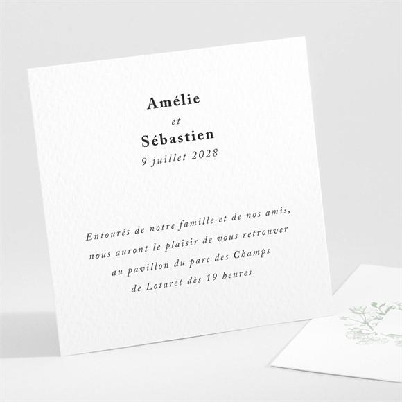 Carton d'invitation mariage Belle nature réf.N301104