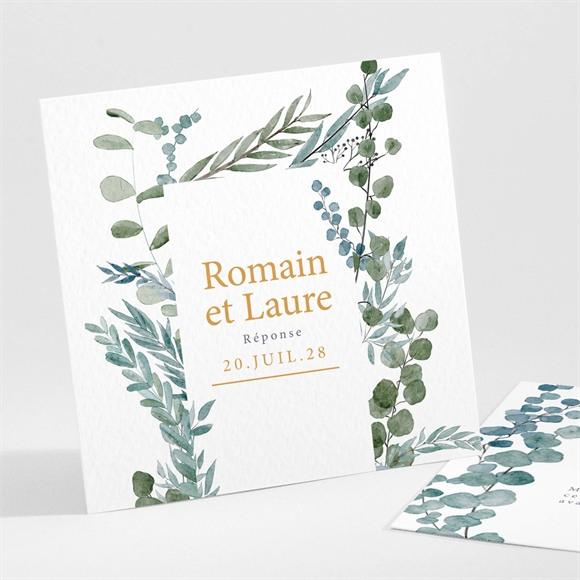 Carton réponse mariage Douce ambiance réf.N301108