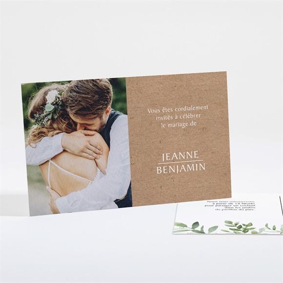 Carton d'invitation mariage Nature chic réf.N16151