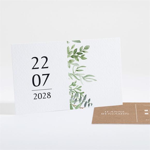 Carton réponse mariage Nature chic réf.N16152