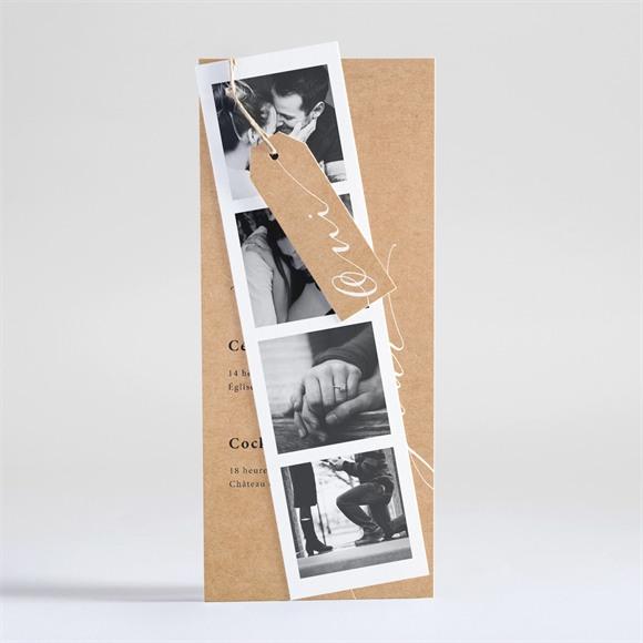 Faire-part mariage Photomaton réf.N93102