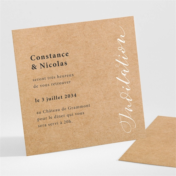 Carton d'invitation mariage Photomaton réf.N301109