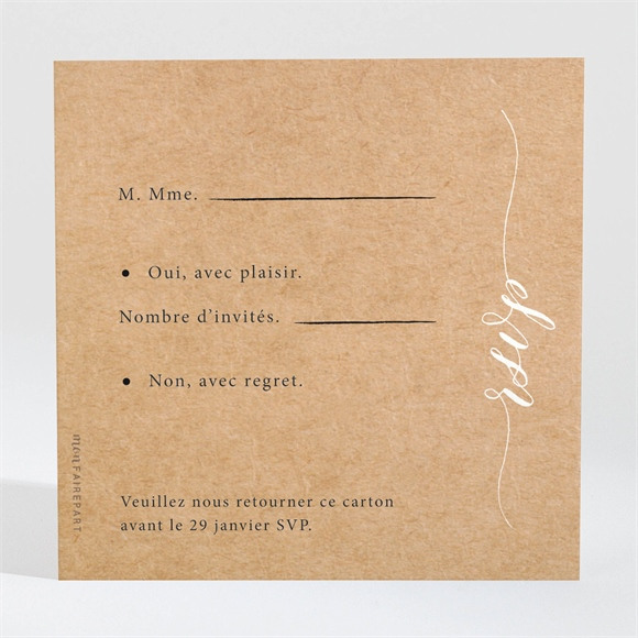 Carton réponse mariage Photomaton réf.N3001555