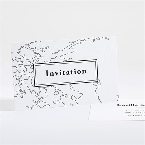 Carton d'invitation mariage Dessin d'amour réf.N16153