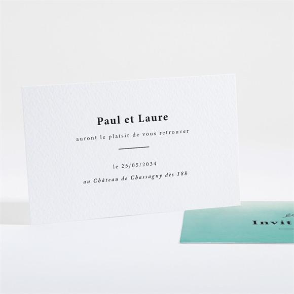 Carton d'invitation mariage Lagon réf.N16154