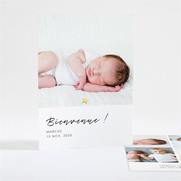 Faire-part naissance Elégante étoile réf.N28110