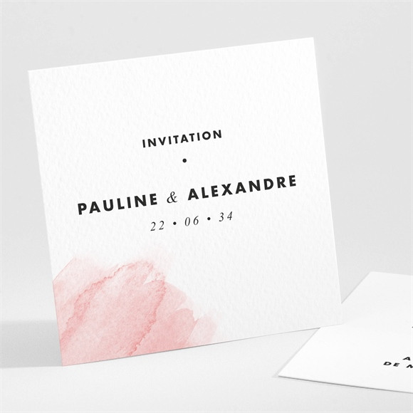 Carton d'invitation mariage Elegantes nuances réf.N301111