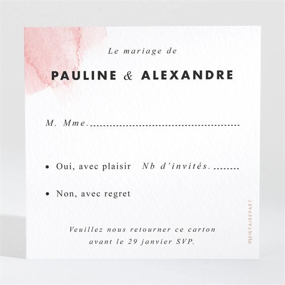 Carton réponse mariage Elegantes nuances réf.N3001557
