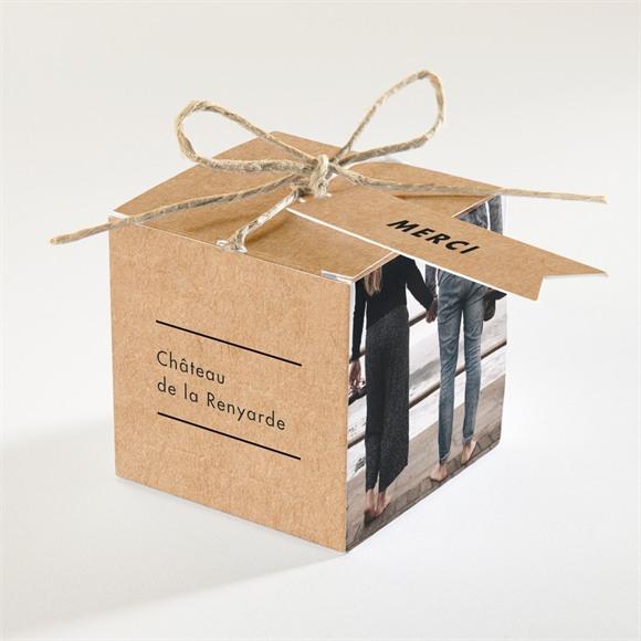 Boîte de dragées mariage Photomaton kraft réf.N340221