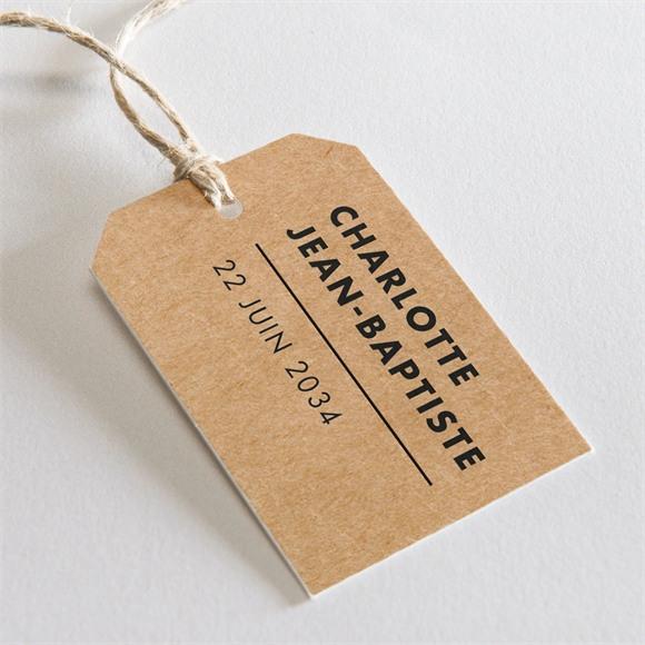 Etiquette mariage Photomaton kraft réf.N29120