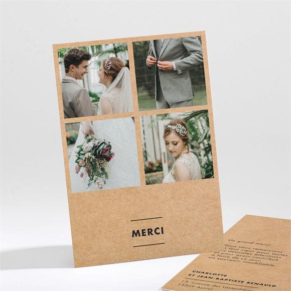 Remerciement mariage Photomaton kraft réf.N211218