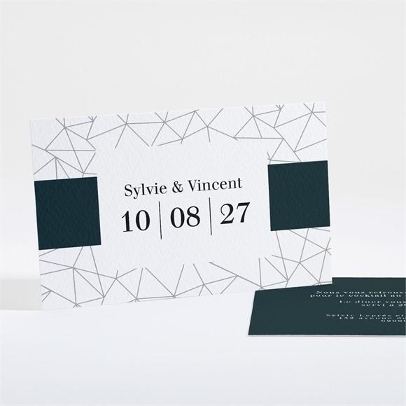 Carton d'invitation mariage Géométrie enlacée réf.N16160