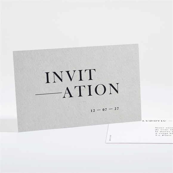 Carton d'invitation mariage Texture marbrée réf.N16162