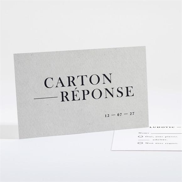 Carton réponse mariage Texture marbrée réf.N16163