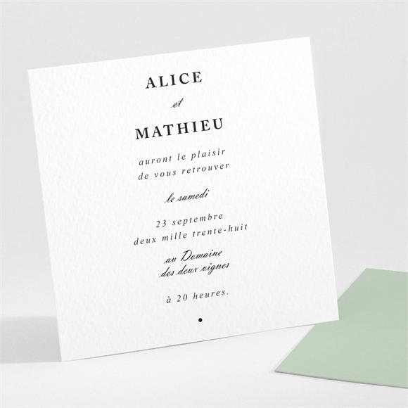 Carton d'invitation mariage Tendre amande réf.N301123