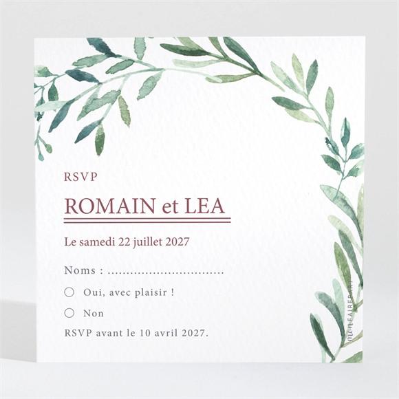 Carton réponse mariage Ronde végétale réf.N3001561