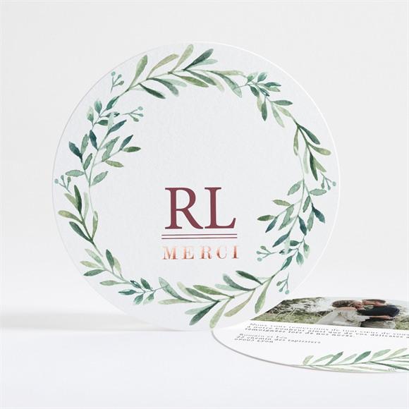 Remerciement mariage Ronde végétale réf.N321128