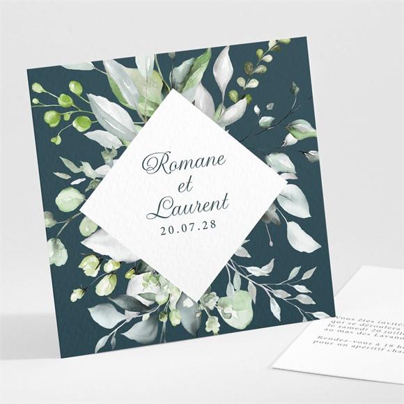 Carton d'invitation mariage Composition florale réf.N301124