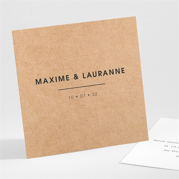 Carton d'invitation mariage AMOUR ! réf.N301127