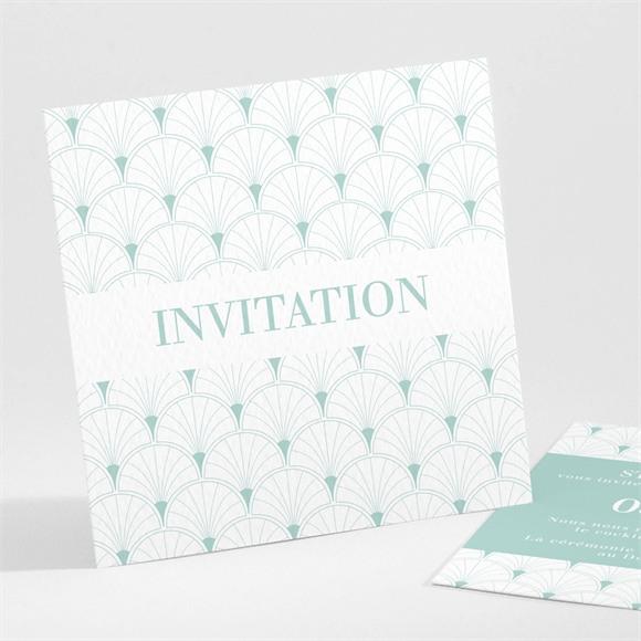Carton d'invitation mariage Graphique réf.N301132