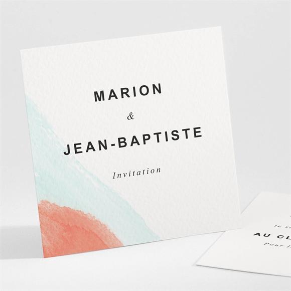 Carton d'invitation mariage Pastel réf.N301134