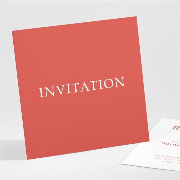 Carton d'invitation mariage Corail étincelant réf.N301135