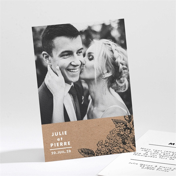 Remerciement mariage Love gravure réf.N211225