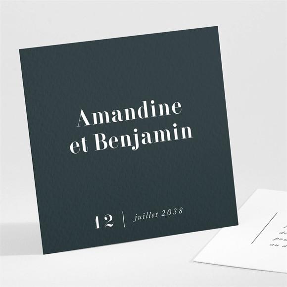 Carton d'invitation mariage Forever réf.N301139