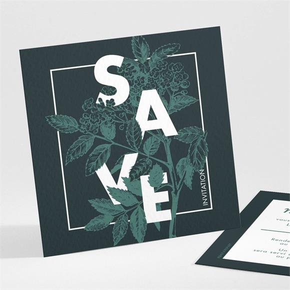 Carton d'invitation mariage Save the date gravure réf.N301141