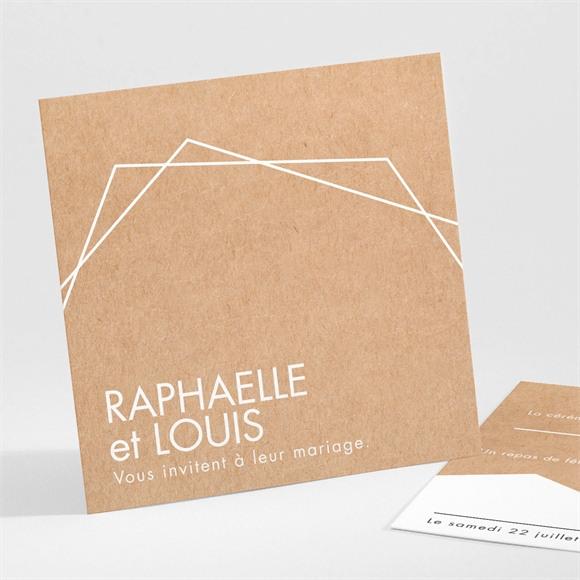 Carton d'invitation mariage Belle nouvelle réf.N301143