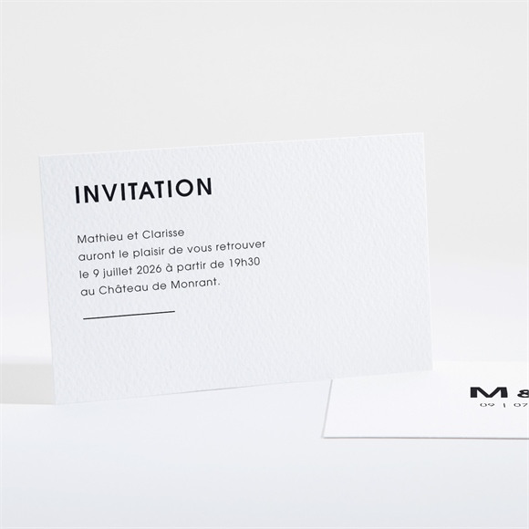 Carton d'invitation mariage Love direction réf.N16166