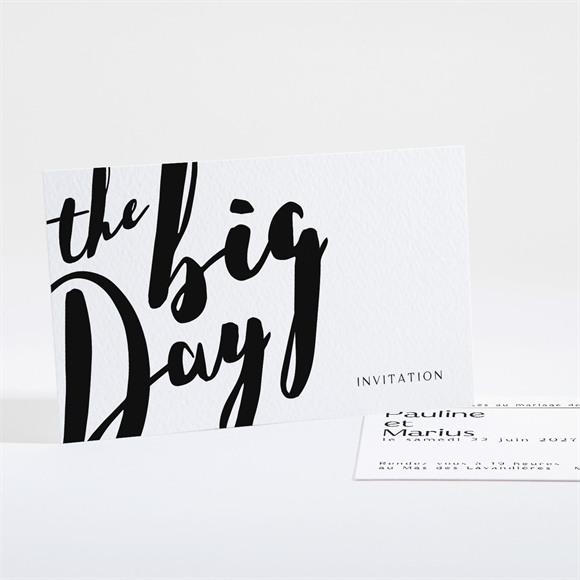 Carton d'invitation mariage The Big Day réf.N16168