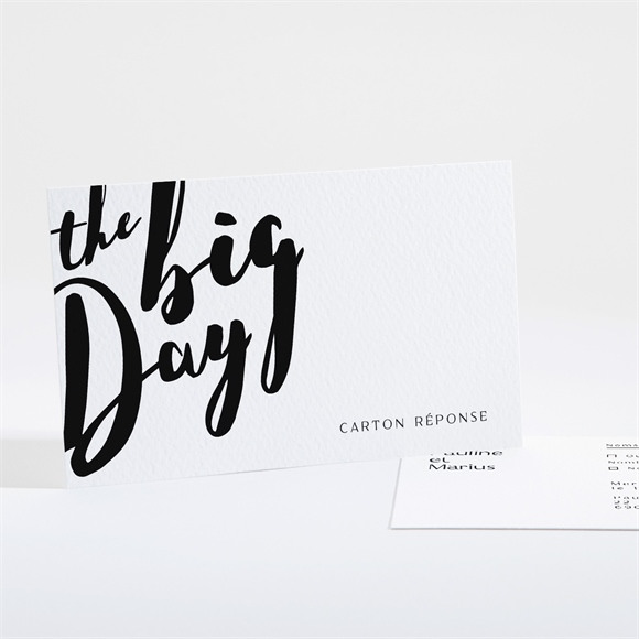 Carton réponse mariage The Big Day réf.N16169