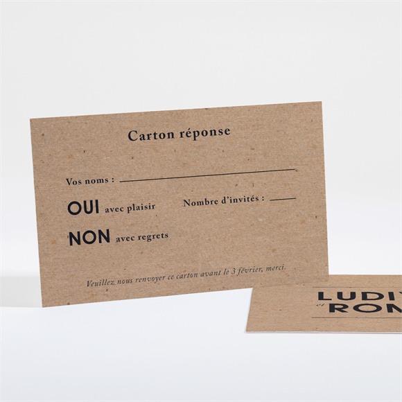 Carton réponse mariage Romance vintage réf.N16171